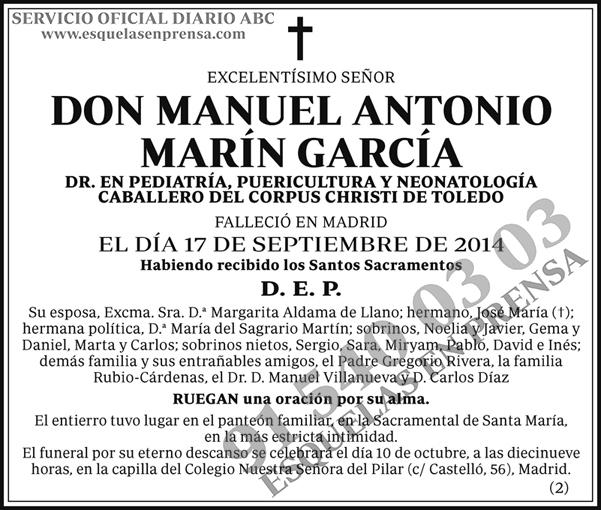 Manuel Antonio Marín García